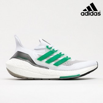 Adidas Ultra Boost 21 Triple WHITE GREEN