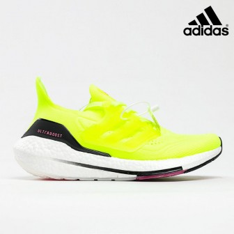 Adidas Ultra Boost 21 Solar Yellow Pink