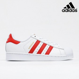 Adidas Superstar Foundation 'White Scarlet'