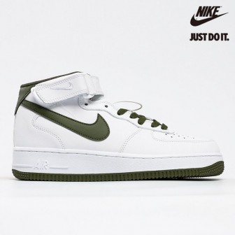 Nike Air Force 1 Mid Retro White Dark Green