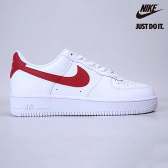 Nike AIR FORCE 1 '07 'WHITE NOBLE RED'