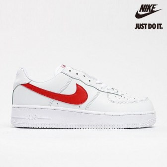 Nike Air Force 1 Low 07 White Sport Red Gloss