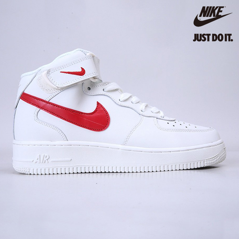 Nike Air Force 1 Mid Sail University Red - 315123-126