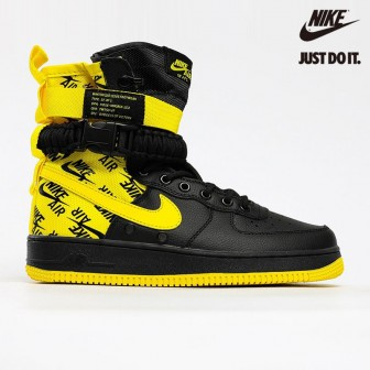Nike Air Force 1 High SF Black 'Dynamic Yellow'