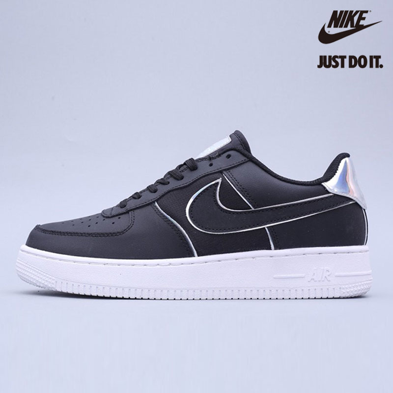 Nike Air Force 1 Low '07 LV8 'Black Iridescent Outline' - AT6147-001