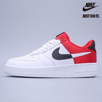Nike Air Force 1 '07 trainers in white/red