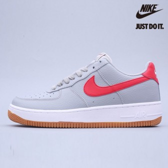 Nike Air Force 1 '07 Wolf Grey University Red