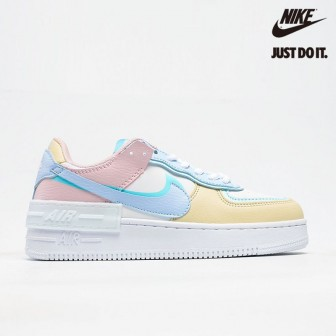 Nike Air Force 1 Shadow  'PASTEL' White Glacier Blue Ghost
