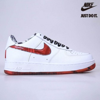 Nike Air Force 1 07 LV8 'White Red'