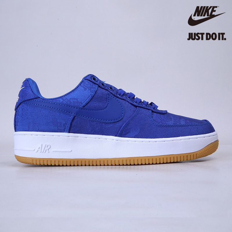 Nike CLOT x Air Force 1 PRM 'Royal Silk' - CJ5290-400