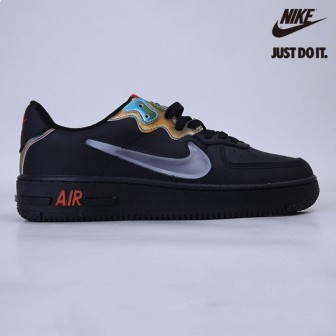 Nike Air Force 1 React Black Glow Habanero Red