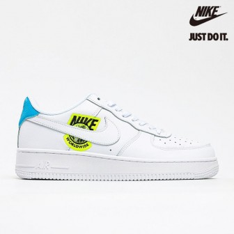 Nike Air Force 1 '07 SE 'Worldwide Pack - Volt' Blue White