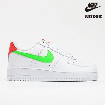Nike Air Force 1 Low 'Watermelon' White Laser Crimson Green Strike