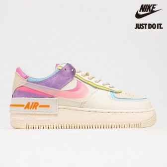 Nike Wmns Air Force 1 'Shadow Beige' Pale Ivory Pink