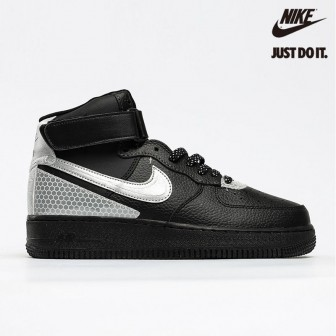 3M x Nike Air Force 1 High 'Black' Metallic Silver