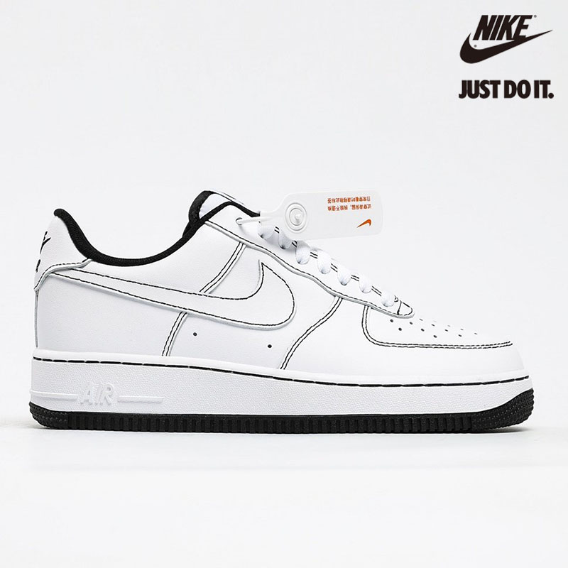 Nike Air Force 1 Low '07 'Contrast Stitching - White / Black' - CV1724-104