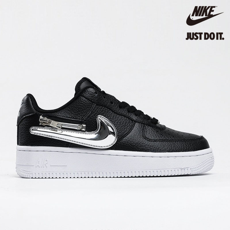 Nike Air Force 1 '07 Premium 'Silver Swoosh' - CW6558-001