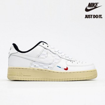 Kith X Nike Air Force 1 Low France Paris White Blue Red
