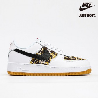 Nike Air Force 1 Quai 54 White/Brown-Yellow
