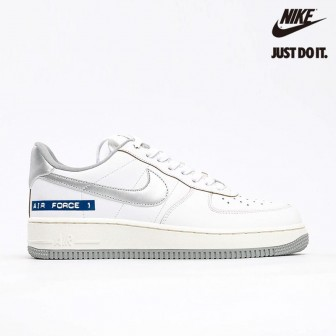 Nike Air Force 1 Low 'Label Maker' White Blue Grey