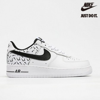 Nike Air Force 1 07 GS 'Swooshfetti' White Blac