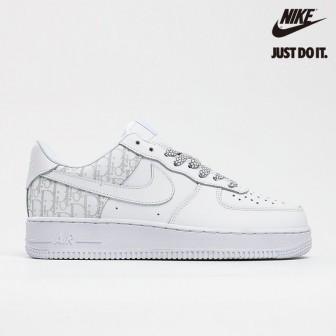 Dior x Nike Air Force 1 Low White Grey Casual