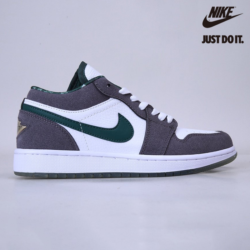 Nike Air Jordan 1 Retro Low Suede Grey Green 'North Side' - 309192-131