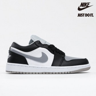 Air Jordan 1 Low 'Light Smoke Grey' Black White