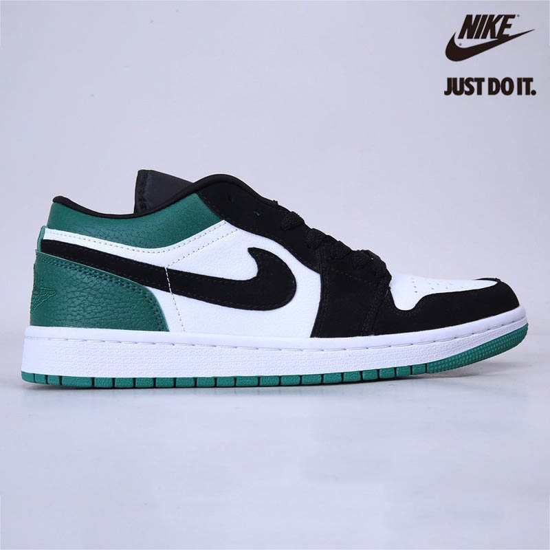 Nike Air Jordan 1 Low White Black Mystic Green - 553558-113