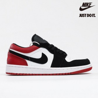 Air Jordan 1 Low 'Black Toe' White Gym Red