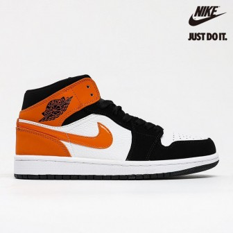 Air Jordan 1 Mid 'Shattered Backboard' White Black Starfish