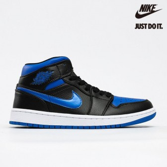 Air Jordan 1 Mid Royal Black Blue