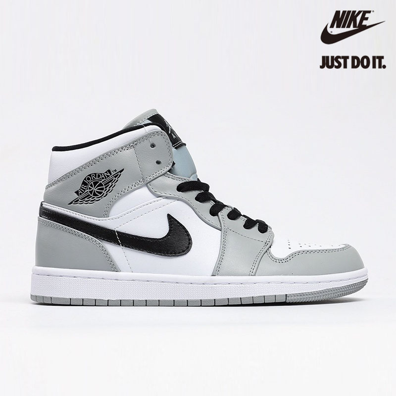 Nike Air Jordan 1 Mid Light Smoke Grey - 554724-092