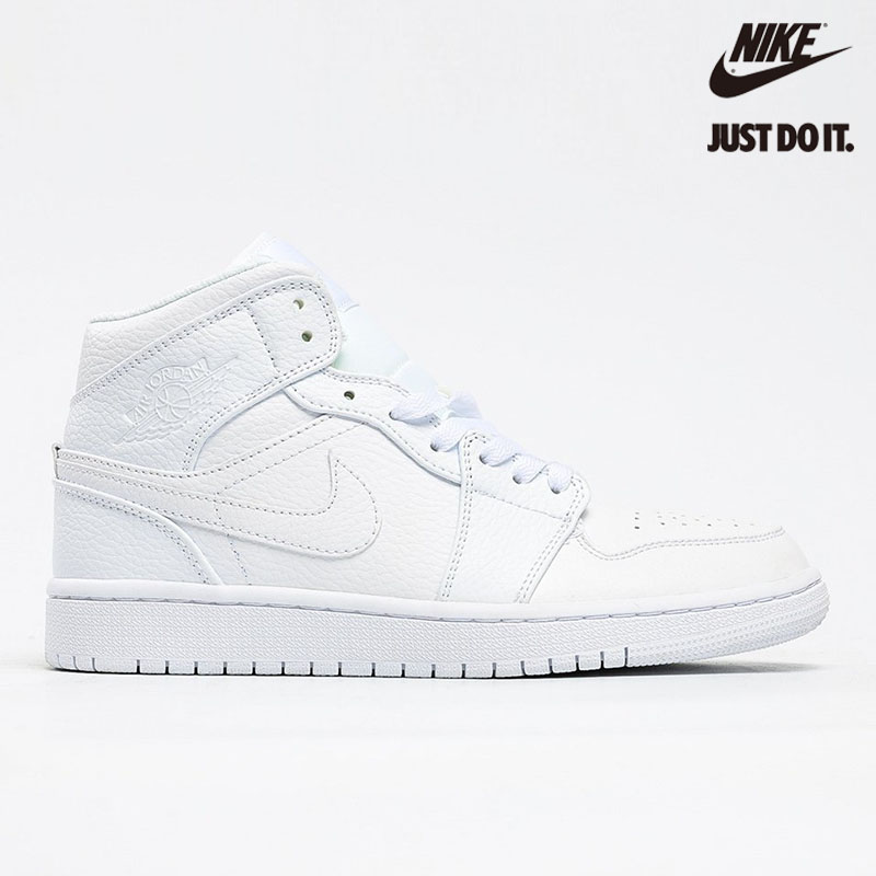 Nike Air Jordan 1 Mid Triple White - 554724-129