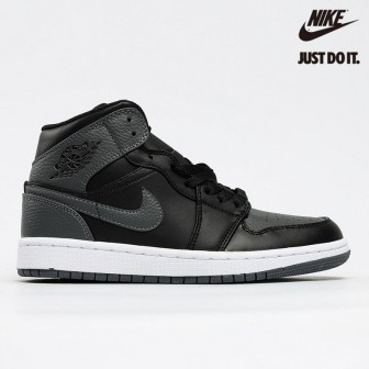 Air Jordan 1 Mid GS Black Summit White Dark Grey