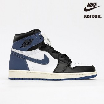 Air Jordan 1 Retro High OG 'Blue Moon' Summit White Blue Moon-Blac