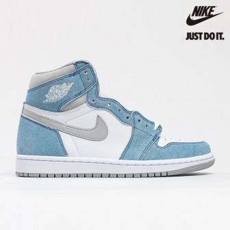 Air Jordan 1 Retro High OG 'Hyper Royal' Light Smoke Grey White