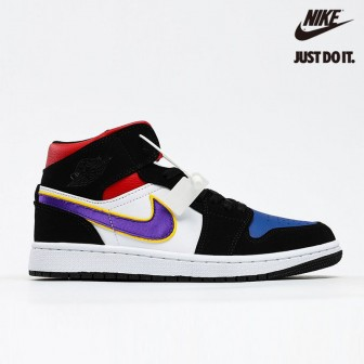 Air Jordan 1 Mid SE 'Rivals' Purple Field White Gym Red