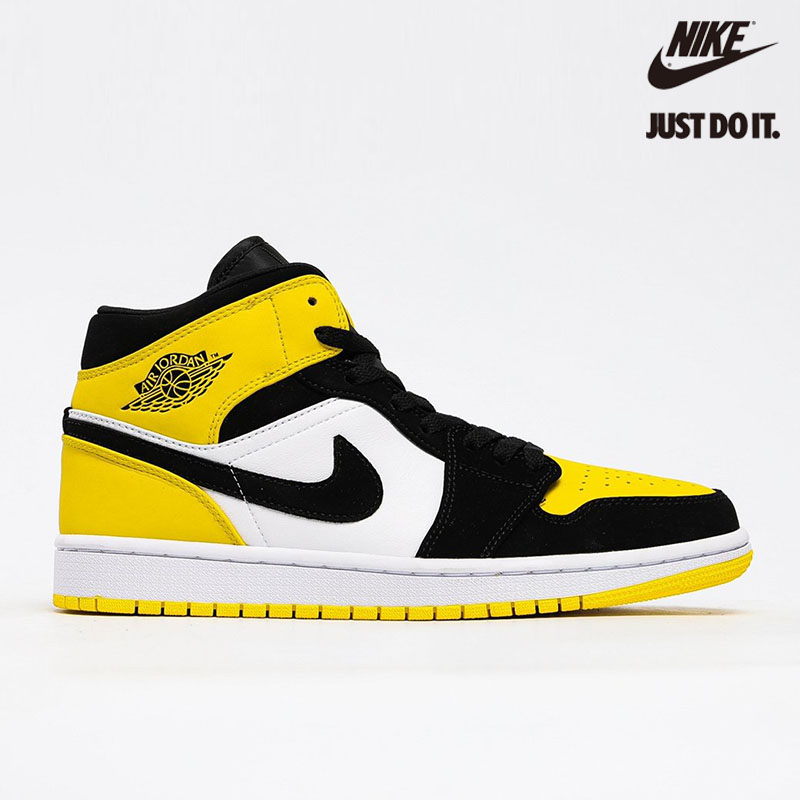 Nike Air Jordan 1 Mid SE 'Yellow Toe' Black - 852542-071