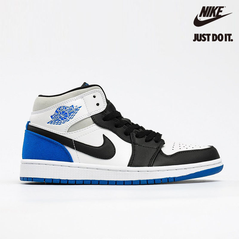 Nike Air Jordan 1 Mid SE 'Royal Black Toe' - 852542-102