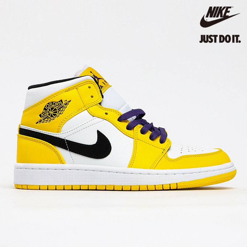 "Nike Air Jordan 1 Mid SE ""Lakers"" - 852542-700"