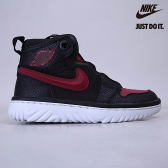 Air Jordan 1 High React Black 'Noble Red'