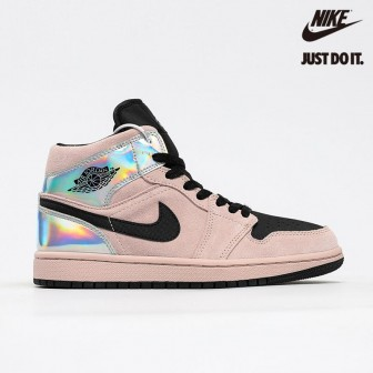 Air Jordan 1 Mid 'Iridescent' Barely Rose Black Multi
