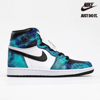 Air Jordan 1 Retro High OG 'Tie-Dye' White Black Aurora Green