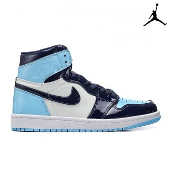 Air Jordan 1 Retro High OG 'Blue Chill'  UNC Patent Unisex