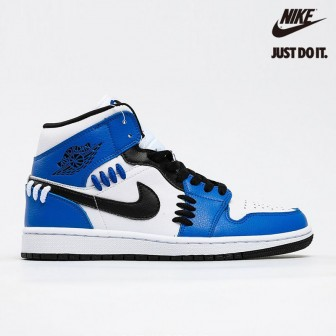 Air Jordan 1 Mid 'Sisterhood' Game Royal Black White