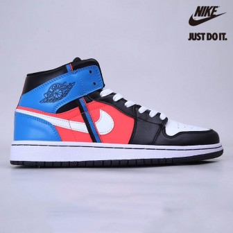 Air  Jordan 1 Mid Game Time Gs Black/White-Blue Orbit Youth
