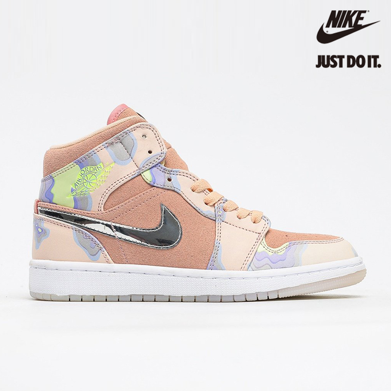 Nike Air Jordan 1 Mid SE 'P(HER)SPECTIVE' Washed Coral Light Whistle - CW6008-600