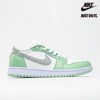 Air Jordan 1 Retro Low White 'Particle Grey' Green