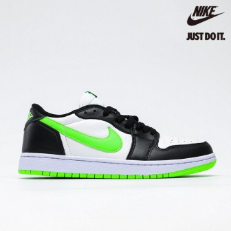 Air Jordan 1 Retro Low White 'Ghost Green' Black